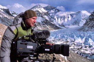 David Filming at Tillman's Base Camp, Mt. Everest